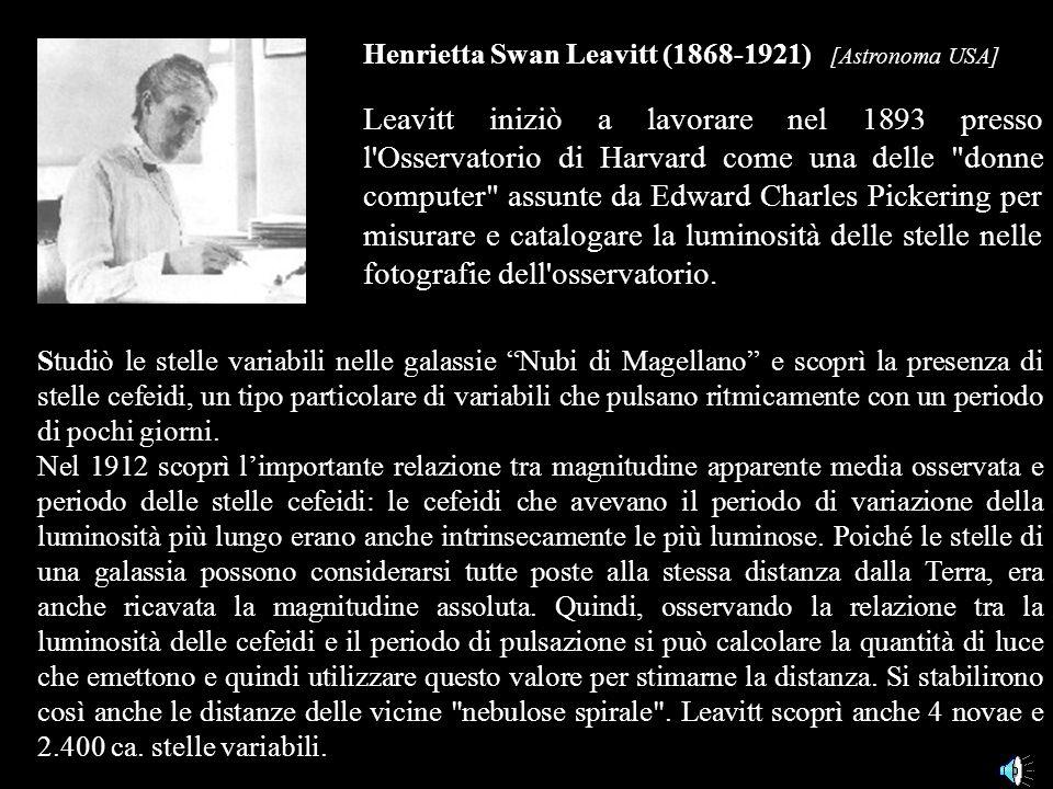Henrietta Swan Leavitt (1868-1921) [Astronoma USA]